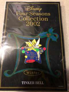 日本 迪士尼 徽章 TOKYO DISNEY PIN Four Seasons Collection 2002 Winter Tinker Bell