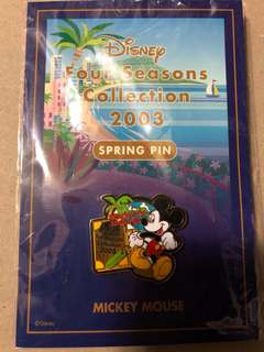 日本 迪士尼 徽章 TOKYO DISNEY PIN Four Seasons Collection 2003 Spring Micky