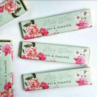 Chocolate bar + custom wrapper