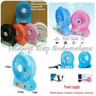 Fan mini powerbank usb