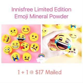 🛍1+1 Sales! Innisfree Limited Edition Emoji No-Sebum Mineral Powder