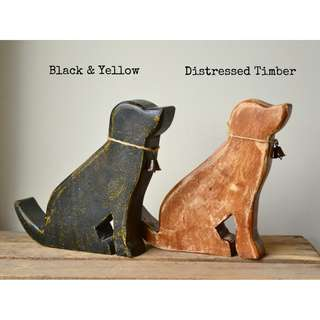 Handmade Mango Wood Timber Dog Statue