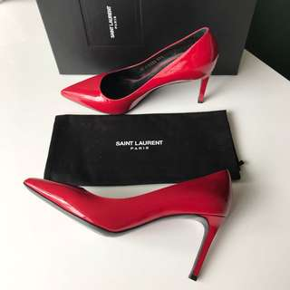 Auth. Saint Laurent 'PARIS' Pumps, 37.5