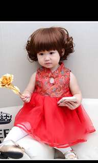 BN girl red Cheong sam dress