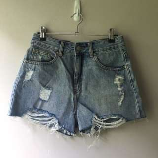 Glassons 90's Cutaway Denim Shorts