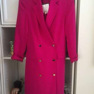 TOPSHOP Pink Blazer Dress (Size: 2)