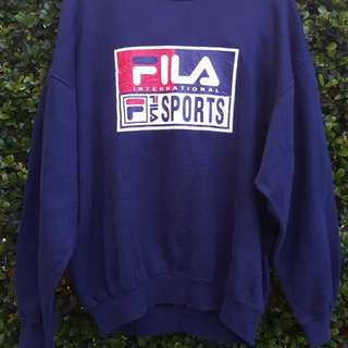 Vintage Fila Sports sweater pullover *Size M/L*