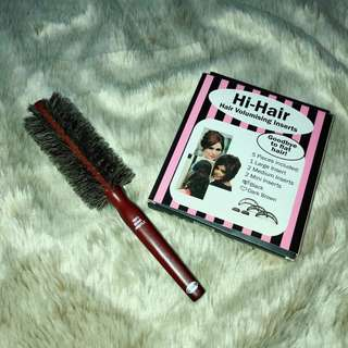 Authentic Goody Boar Natural Bristles free Hair Volumizing Inserts
