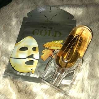 Set Face Mask Sheet Gold Women CK2