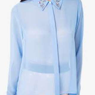 Forever 21 sz Medium Blue Blouse