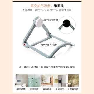 强力吸盘脸盆架挂架卫生间脸盆收纳架浴室壁挂厨房墙壁挂钩置物架
