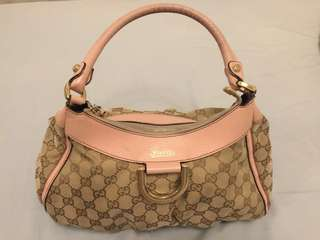 Gucci Bag with Pink Leather Handle