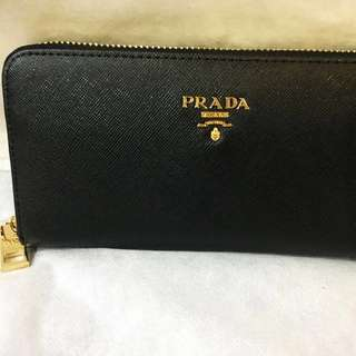 PRADA -Black Wallet-Aunth