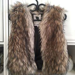 Aritzia Talula Faux Fur Vest (Size: XXSmall)