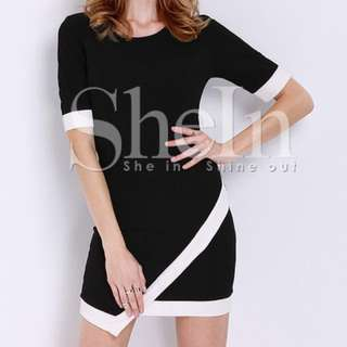 SheIn - Black Short Sleeve Dress