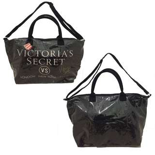 2in1 Victoria's Secret Glitter Bag - Black