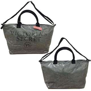 2in1 Victoria's Secret Glitter Bag - Silver