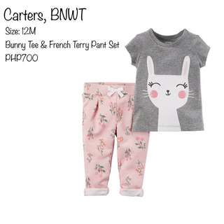 Bunny Tee & French Terry Pants Set