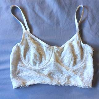 "Lace bralette from Urban Outfitters- Brand ""Pins and Needles"" size XS"