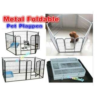 Metal Foldable Pet Fence - S / L