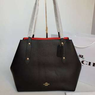 COACH LARGE MARKET TOTE IN POLISHED PEBBLE LEATHER