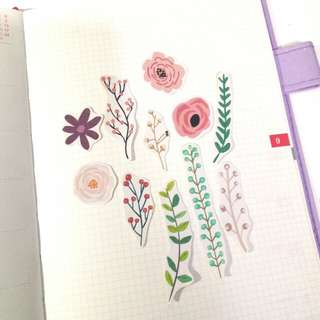 Flower cute stickers
