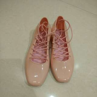 Jelly ballerina shoes