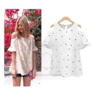 White stars blouse