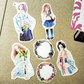 Transparent girl stickers