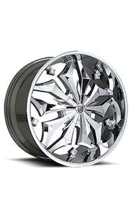 "17"" Lexani Luxurious Full Chrome Tyre Rims"