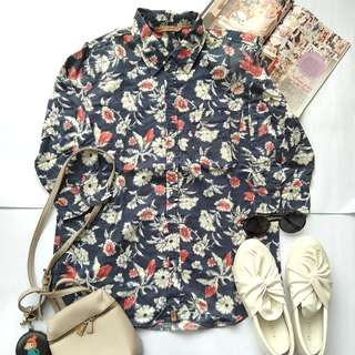 Floral navy shirt by mobile power