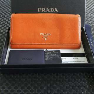 Authentic prada vit daino wallet
