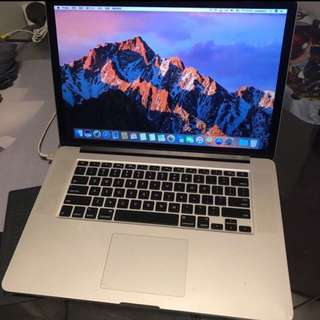 頂配Macbook Pro i7 2.7GHz 16GBram 512GB ssd GT650M Retina
