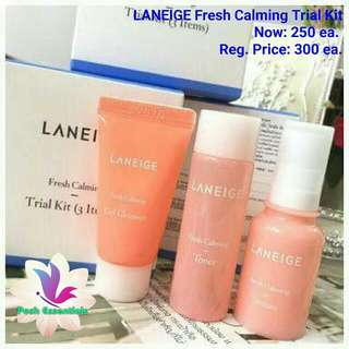 Laneige Fresh Calming Trial Kit (authentic)