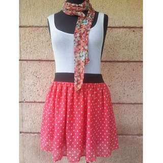 Rue21 Red Dotted Skirt