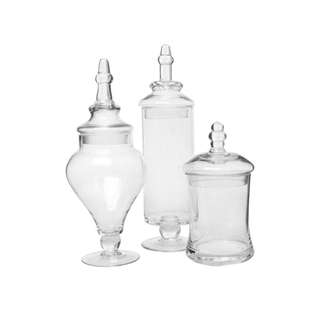 Clear Glass Apothecary Jars Piece Set [for Rent]