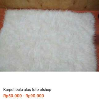 Karpet bulu panjang alas foto untuk olshop