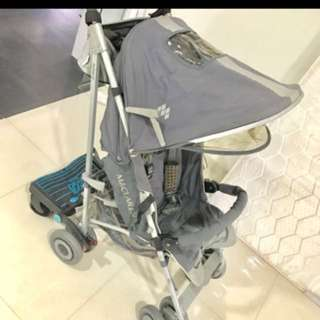 Maclaren Techno XT Stroller with Lascal buggy board