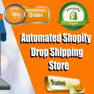Website online business e-commerce drop ship