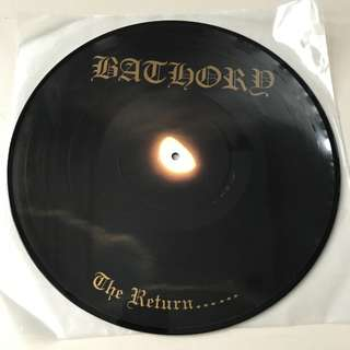 Bathory The Return Picture Disc LP Bathory Records 1997 #615/666 Mayhem Darkthrone Black Metal
