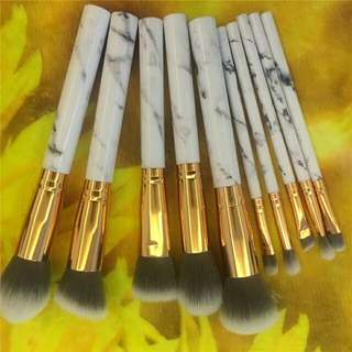 Makeup Brushes < Professional Women Marble Brushes Makeup Tool Kit Soft Makeup Brush Set 10pcs Foundation Powder Brush Marble Make Up Tools>