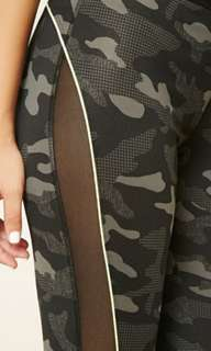 Forever 21 Active Camo Print Side Mesh Leggings