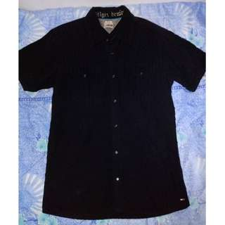 2pcs HILFIGER Collared Shirts (Black, White)
