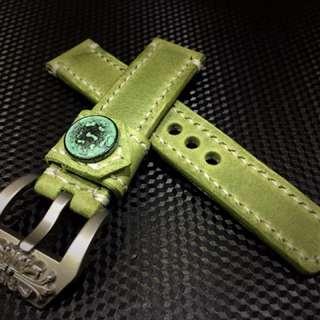 手造兩邊縫線瘋馬皮錶帶~SEIKO ROLEX PANERAI OMEGA 精工 勞力士 Apple Watch 真皮表带