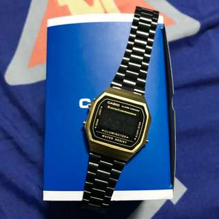 Authentic Casio Matte Gold and Black