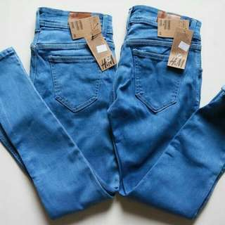 basic jeans H&M black and medium blue