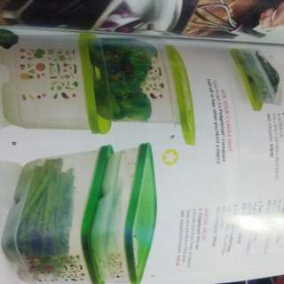 vegetable container from tupperware new