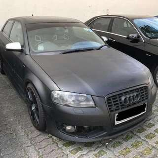 Audi S3 2.0Turbocharged 6-Speed Manual       -(SG)-  Year 2007