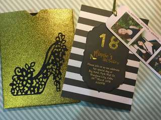 Debut invitation card