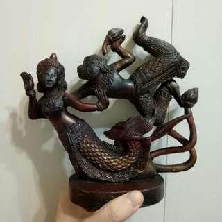 柬埔寨帶回 神話雕刻擺飾